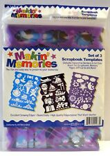 Makin' Memories Scrapbooking Templates set of 3 Stencil Borders Cut Outs New