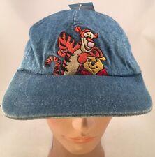 Disney Winnie The Pooh Tigger Denim Embroidered Elastic Back Hat