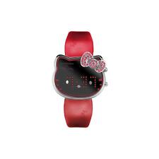 Orologio CHRONOTECH mod. HELLO KITTY ref.CT.7104-L-24 da Bsambina in pelle rosso