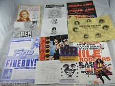 LOT OF 12 ~ 1990S JAPAN CONCERT FLYERS ~  PEARL JAM, FINE & THE FINE BOYS  MORE