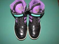 Womens Adidas Sneaker  Black Purple Aqua  W/Glitter Sz-10 high top