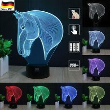 Horse head Pferd Kopf 3D LED  Tischleuchte Tischlampe Nachttischlampe Leselampe