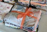 Lot of 8 FQs Fat Quarters Made from Vintage Sheets Cotton Blend Soft