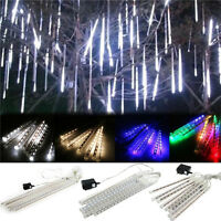 30cm/50cm 144/160 LED Lights Meteor Shower Rain 8Tube Outdoor Light Xmas Tree