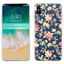 Slim TPU Phone Protector Case for Apple iPhone Xs Max - Floral Garden
