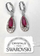 Goccia lunga Orecchini pl.oro Rosa 18K cristalli Swarovski Donna SWG/02