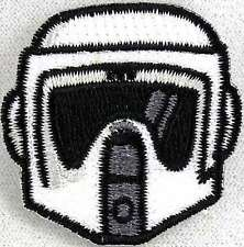 Star Wars Biker Scout Head Mini Embroidered Patch 1.5 inch