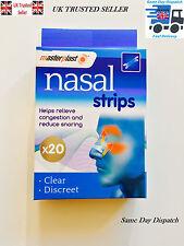 20X Drug-Free Nasal Strips NOTMenthol Stop Snoring Great Anti Snore Sleeping Aid