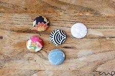5 x pulsante fatto a mano Frigo Magneti assortiti modello giapponese 25mm regalo rotondo