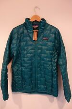 $249 NWT Patagonia W's Micro Puff Elwha Blue Jacket Size Large