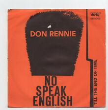 (W711) Don Rennie, No Speak English - Italian 7 inch vinyl