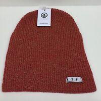480012cb4fe Neff Unisex Fold Daily Heather Red Tan Beanie Rib Knit Hat Cuff Winter Snow