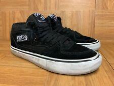RARE🔥 VANS Half Cab Black Suede Skateboarding Sneakers Sz 8.5 Men's Shoes LE