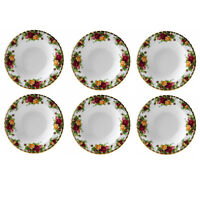 """ROYAL ALBERT OLD COUNTRY ROSES 8"""" RIM SOUP BOWL SET OF SIX NEW #IOLCOR00113 F/S"""