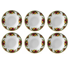 ROYAL ALBERT OLD COUNTRY ROSES RIM SOUP BOWL SET OF SIX NEW #IOLCOR00113 F/SH