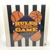 Rules of the Game Board Game Sports Trivia Game By Hasbro (2000) - New Sealed