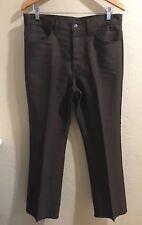 Vintage 70s 1970s 520 Levis Sta-Prest 33x29 Brown Pants Jean Black Tab Talon