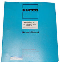 Hurco Autobend IV, Two Axis Promecam, Operations Maintenance and Parts Manual
