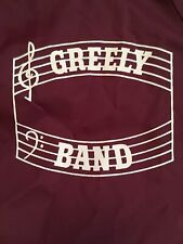 Vtg Pla-Jac Snap Jacket Greely Marching Band Nylon Dunbrooke Music Staff Maroon