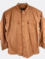 Men's Lakin McKey Trading Co. Long Sleeve Button Front Shirt Size 3XLT