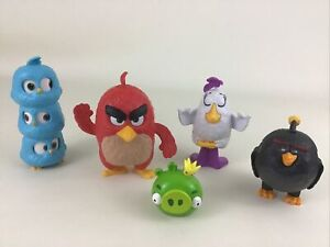 Angry Birds Movie Burger King Toys 5pc Lot Red Matilda Bomb Jay Jake Jim 2017