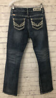 Rock & Roll Cowgirl Boyfriend Jeans Size 28x32 Thick Stitch Faded Western