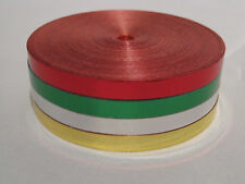 25 M metallica Curling Nastro - 4 rotoli di rosso, verde, argento, oro NATALE INVOLUCRO