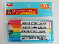Daiso Japan Coloured WHITEBOARD MARKER with Pink, Orange, Yellow, Green & Blue