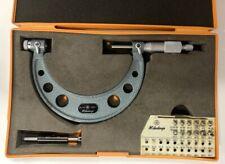 Mitutoyo 126 904 Screw Thread Micrometer With Interchangeable Tips 3 4 Range
