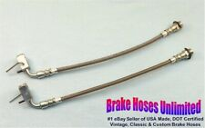REAR STAINLESS BRAKE HOSES Lincoln Mark IV, 1975 1976