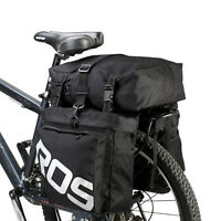 Large Waterproof Bicycle 3-piece Pannier Set Double Side Rear Seat Rack Bag New