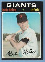 1971 Topps #691 Bob Heise San Francisco Giants high hi number JVB5