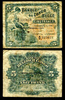 BELGIAN CONGO FRANCS 1947 P 31 A d CIRCULATED