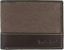 Timberland Baseline Canvas-Leather Men's Billfold Wallet