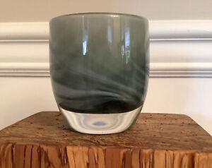 glassybaby Humble BEAUTIFUL Shades & Swirls Of Grays