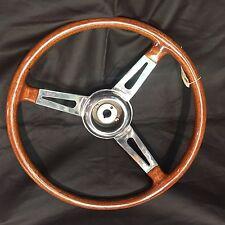 """Vintage Wood Steering Wheel and Hub """"Peretti Milano"""" Original Alfa Romeo"""