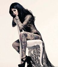 Kat Von D Hot Sexy Tattoo Fabric Art Cloth Poster 16inch x 13inch Decor 09