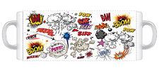 082 - BAM BOOM POW Cartoon  - Funny Novelty gift 11oz Mug