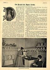 Una visita presso Agnes Sorma storica immagine-report di 1899
