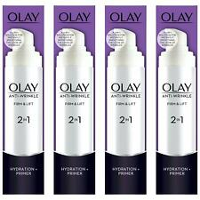 4 x Olay Anti-Wrinkle Firm & Lift 2-In-1 Moisturiser And Anti-Ageing Primer 50ml