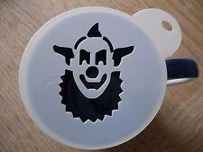 Laser cut clown face 1 design coffee and craft stencil