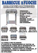 B&P Barbecue a gas 2 fuochi BeP ACCIAIO INOX prodotto artigianale Made in italy