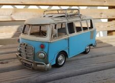 VW Style Camper Van Rustic Shabby Tin Metal Model Ornament 28cm