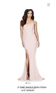 Nookie Jasmine Off Shoulder Blush Gown Size Small