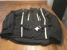 MENS SMALL HEIN GERICKE CORDURA TEXTILE MOTORCYCLE JACKET BLACK