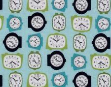Tissu patchwork tissu horloge  tissu enfant  tissu americain tissu riley Blake