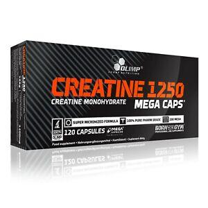 OLIMP Creatine Monohydrate 1250 Mega Caps 120 Capsules PURE MICRONIZED CREATINE