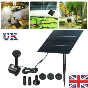 260L/H 3M Solar Panel Powered Water Feature Pump Garden Pool Pond Fountain NEW
