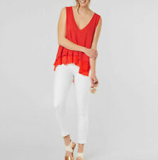 Free People Womens Peachy OB753455 Top Relaxed Coral Red Size XS