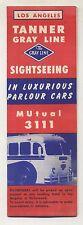Vintage 1953 Tourism Brochure - LOS ANGELES,CALIFORNIA - Gray Line Bus Tours